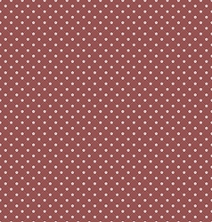 Marsala Polka Dot Seamless Pattern Background vector image