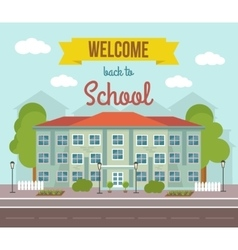 School Colored Poster vector image vector image