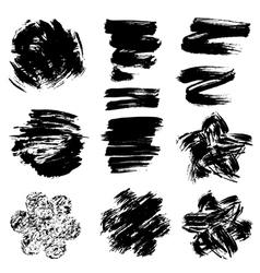 Set of grunge black color figures vector image vector image
