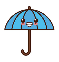 umbrella protection symbol kawaii cute cartoon vector image