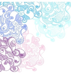 Abstract Waves Background vector image vector image