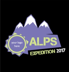 Alps expedition vector image
