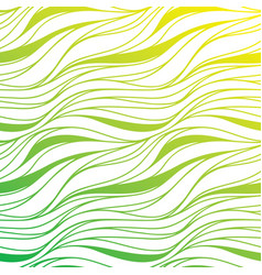 color hand-drawing seamless wave background green vector image vector image