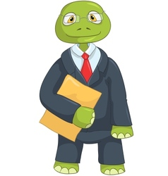 Funny Turtle Businessman vector image vector image