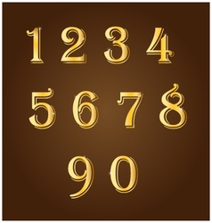 Gold number vector image