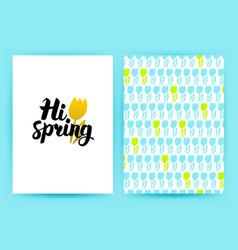hi spring trendy poster vector image vector image