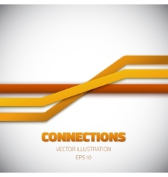 Internet People Connection Lines background vector image vector image