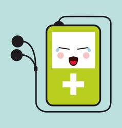 Mp3 kawaii cartoon cry cute icon graphic vector