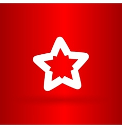Nice star on the red background vector image