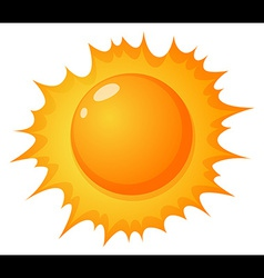 The hot sun vector image vector image