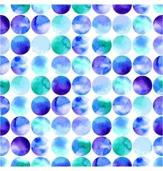 watercolor seamless pattern of circles vector image