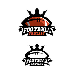 american football fantsy two options vector image vector image