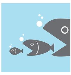 big fish eat little fish vector image vector image