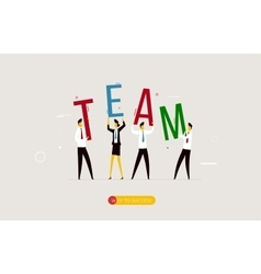 Business team holding a decision letter vector image vector image