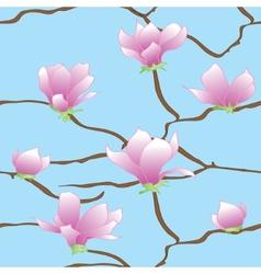 Sakura flowers seamless abstract pattern vector image