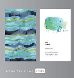 sea pattern business card vector image vector image
