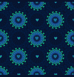 seamless pattern with hand drawn circle and vector image