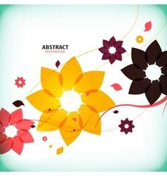 Autumn vintage floral background vector image