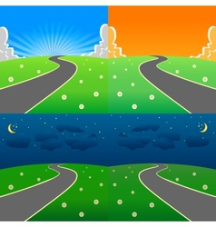 Day and night scene set vector image