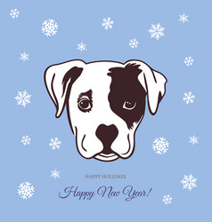 new year dog 2018 vector image