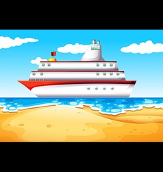 A ship at the beach vector image