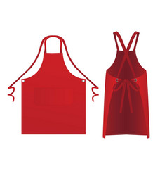 Apron with two ties vector