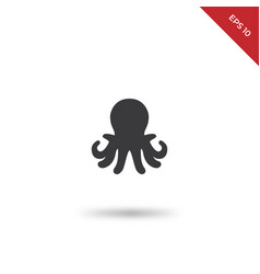 aquarium octopus icon vector image