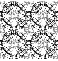 barbed wire circle seamless pattern stylized vector image