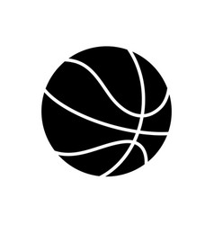 basketball icon black sign vector image