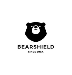 Bear shield logo icon vector