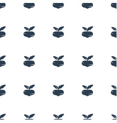 beet icon pattern seamless white background vector image