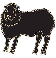 Black sheep vector