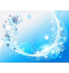 Blue abstract snow background vector image