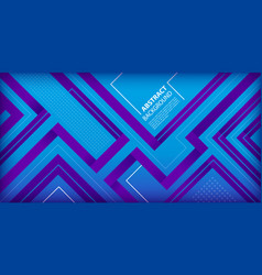 blue purple gradient with geometric shapes vector image