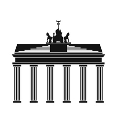Brandenburg gate icon in simple style vector