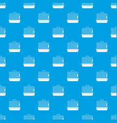 cage for birds pattern seamless blue vector image