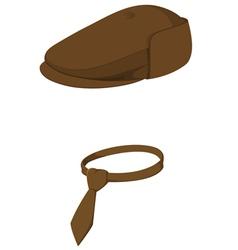 cap with tie vector image