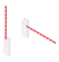 car barrier gate vector image