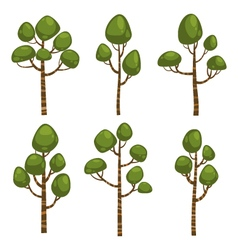 Cartoon Tree Set vector image vector image