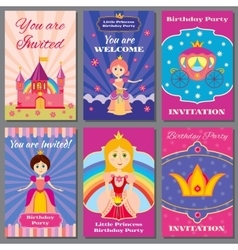 Child girl birthday princess party vector image vector image