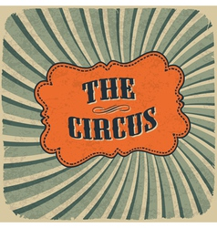 circus retro colors card vector image