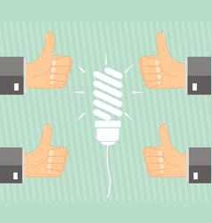Concept idea - management approves the idea vector
