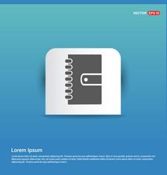 contact book icon - blue sticker button vector image