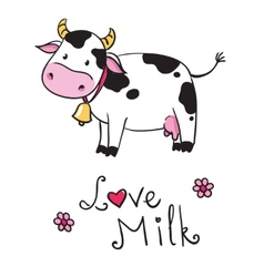 cow i love milk vector image