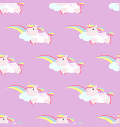 Cute unicorn pattern magic baby vector