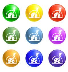 dash board energy icons set vector image