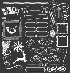 Decorative banners lines flourishes borders vector image
