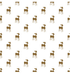 Deer cartoon seamless pattern vector