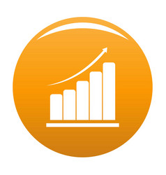 diagram icon orange vector image