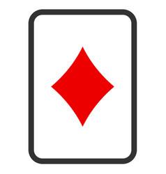 Diamonds gambling card flat icon vector